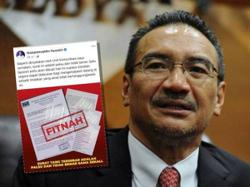 Report lodged on fake letter from Hishammuddin to King