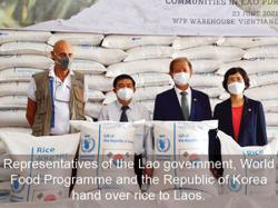 Rice from S. Korea boosts Laos' emergency reserves