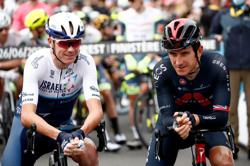 Cycling-Thomas happy to survive bruising Tour de France opening day