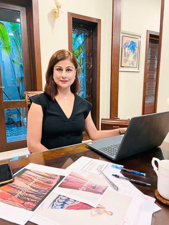 Daljit has refocused on her online business and began offering  handmade customised designer sarees.