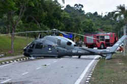Navy helicopter forced into emergency landing at Lumut base