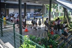 Schools in Singapore reopen with Covid-19 safe management measures in place for students returning to class
