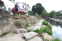 Residents anxious over collapsed drain structure