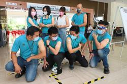 Manufacturing sector workers get their shots