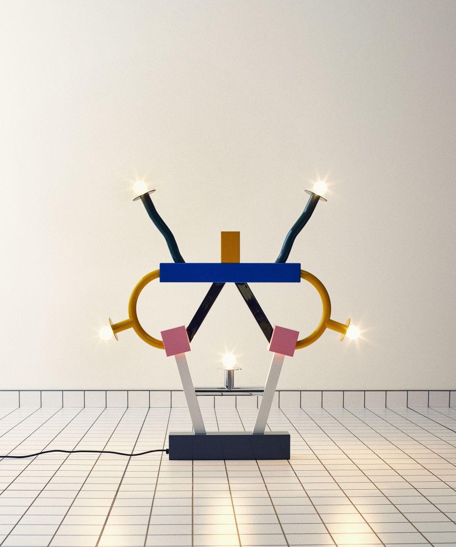 The Ashoka table lamp by Ettore Sottsass.  — Photo: Saint Laurent