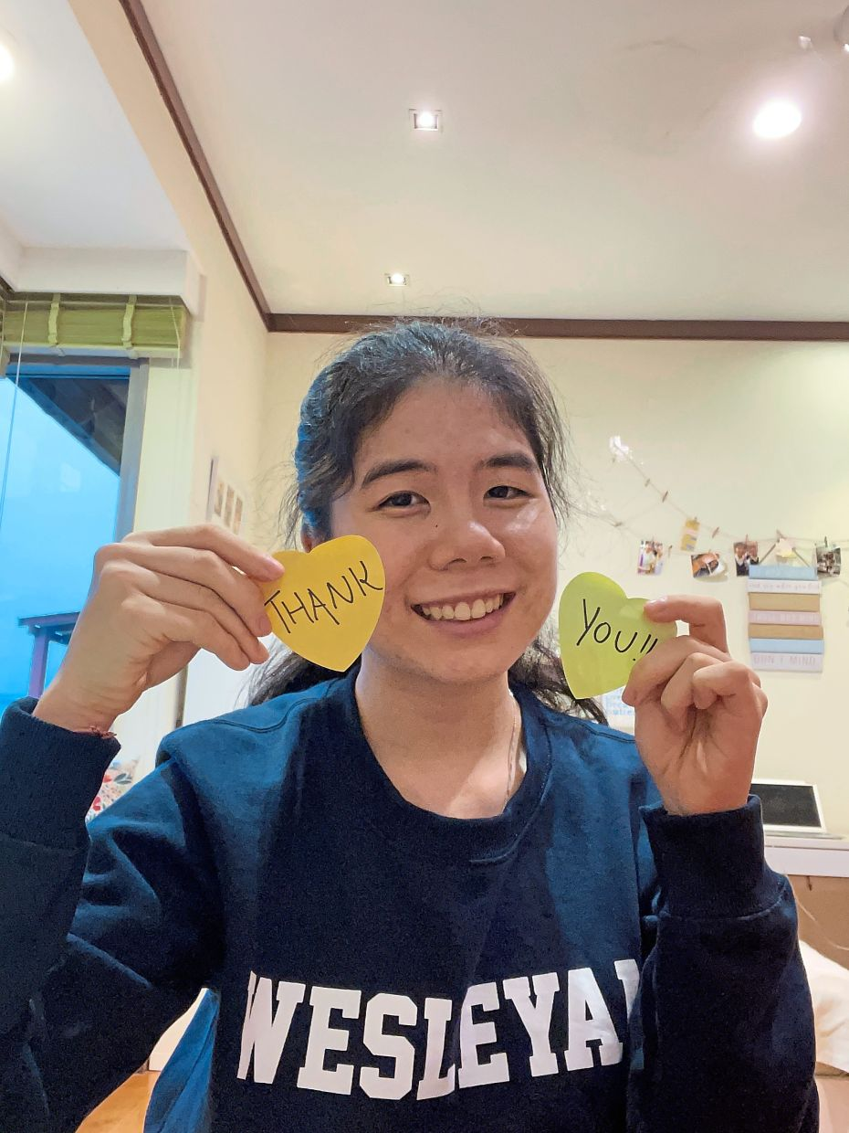 Spreading good cheer: Amelia finds fulfilment in the kindness-themed project aimed at showing appreciation for her school's custodial workers.