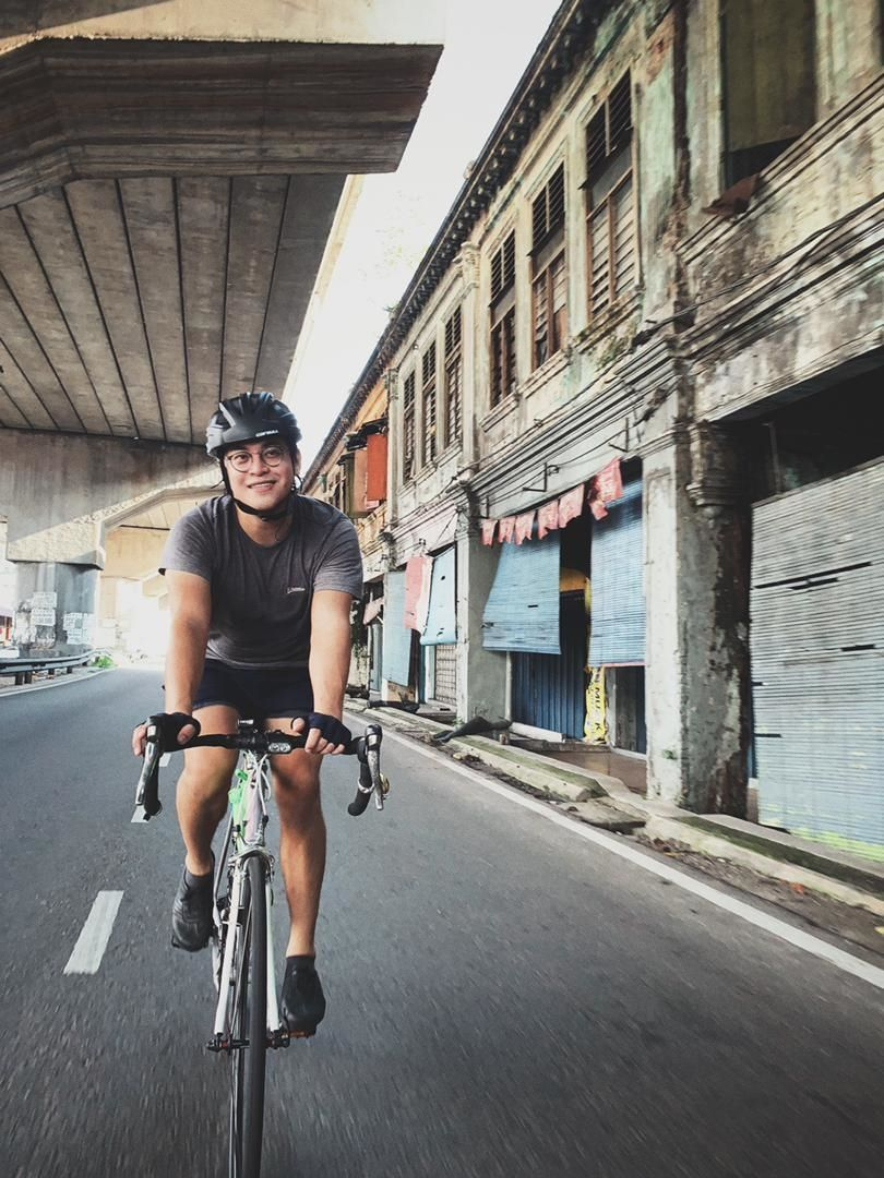Yeoh has recently taken up cycling and he can't wait for the pandemic situation to improve to get back on the road. Photo: Ng Chor Guan
