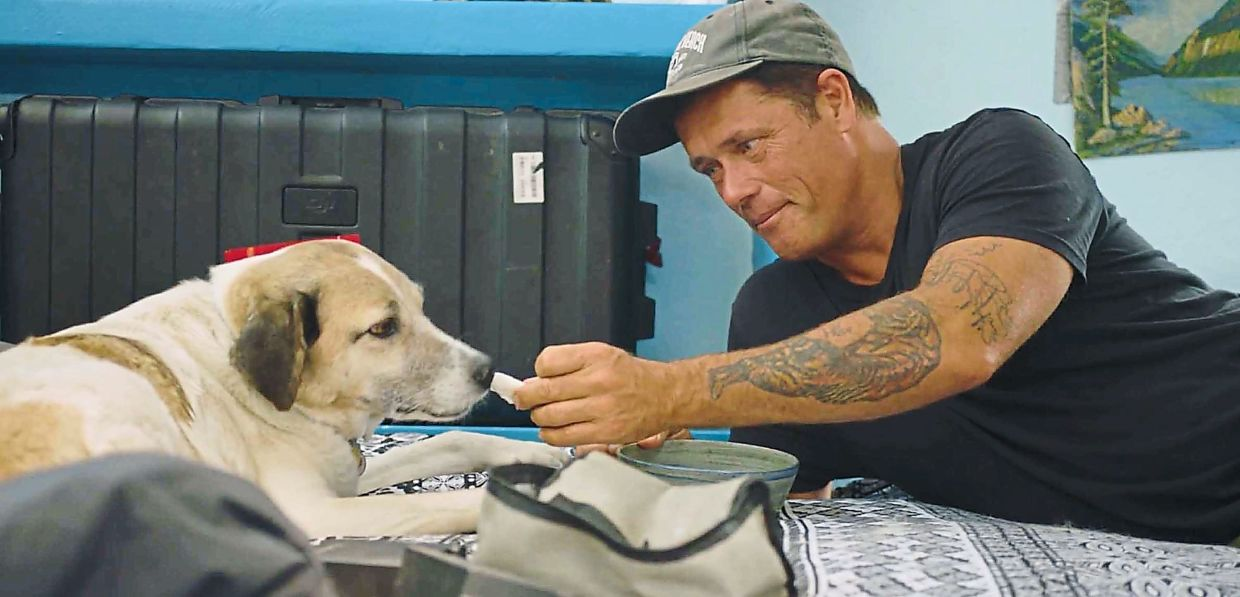Doug Thron's first rescue, and now his forever pet, Duke.