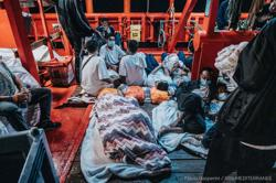 Rescue boat with hundreds of migrants on board asks EU to find it a port