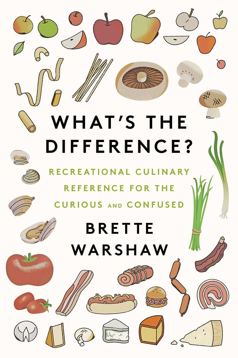 Warshaw's book addresses food-related conundrums like the difference between jam and jelly and pies and tarts.