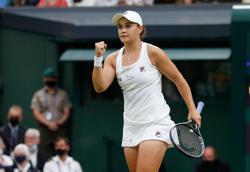 Tennis-Barty wins Aussie battle to reach Wimbledon semis