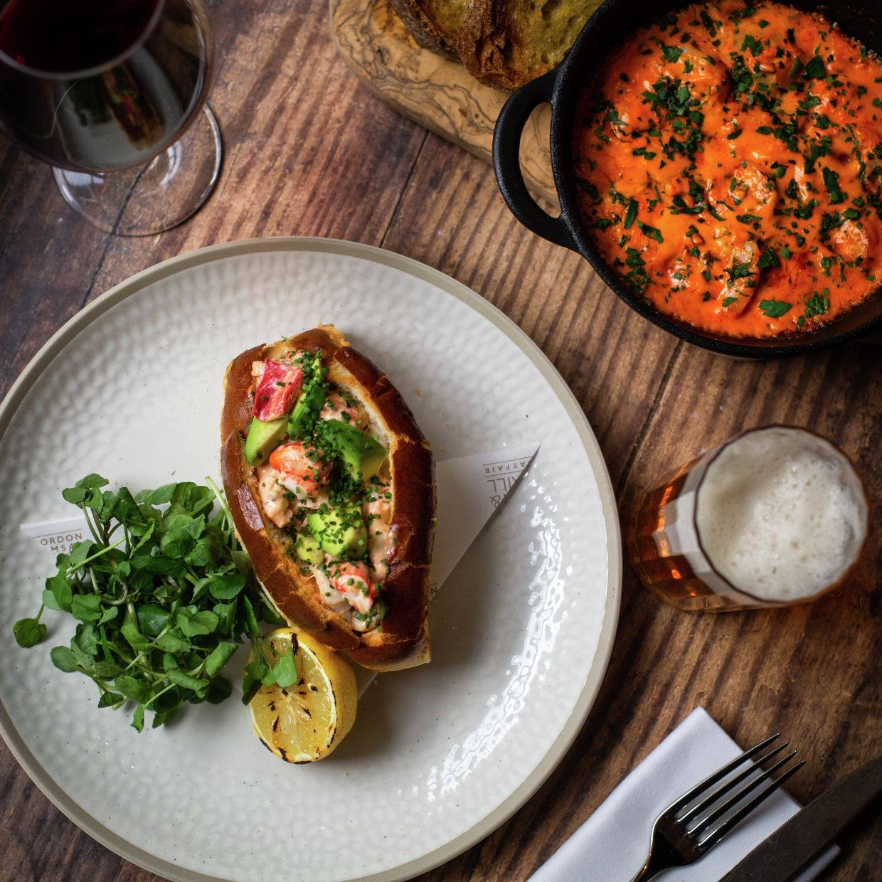 Enjoy a Lobster Roll (pictured) along with rendang short ribs or Crab and Corn Laksa at Ramsay's upcoming restaurant in Malaysia. — Gordon Ramsay Restaurants