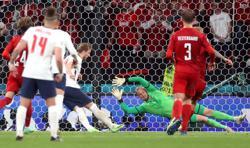 Soccer-England face disciplinary probe over laser pen shone at Schmeichel