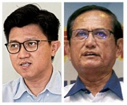 Let's talk: Chong (left) and Hoh hope for an amicable outcome between durian planters and Pahang state.