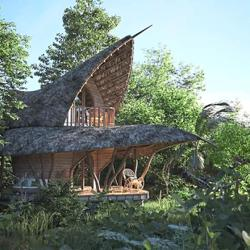 Escape to a lotus-shaped bamboo house in Sri Lanka