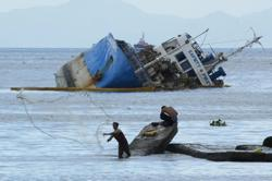 Cargo vessel collides with ship in Philippines, oil spill feared