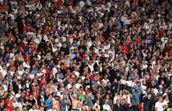 Soccer-England fined 30,000 euros for use of laser pointer, booing Denmark anthem
