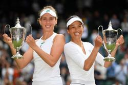 Tennis-Hsieh wins third Wimbledon doubles title, this time with Mertens