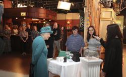 Queen Elizabeth visits set of British soap opera 'Coronation Street'