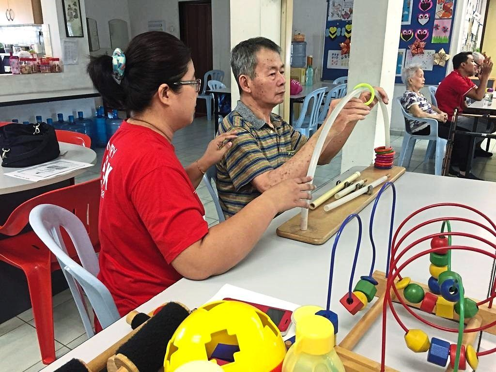 Prior to the pandemic, mind-stimulating activities were held for senior citizens with Alzheimer's disease at the centre. Photos: ADFM