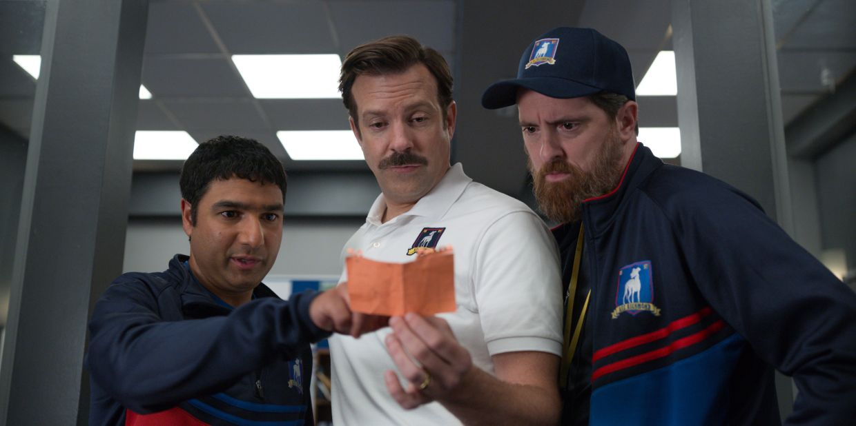 'Ted Lasso' was nominated for an Emmy Award for outstanding comedy series. Jason Sudeikis was also nominated for outstanding lead actor in a comedy series and both Nick Mohammed and Brendan Hunt were nominated for supporting actor in a comedy series. Photo: Apple TV Plus