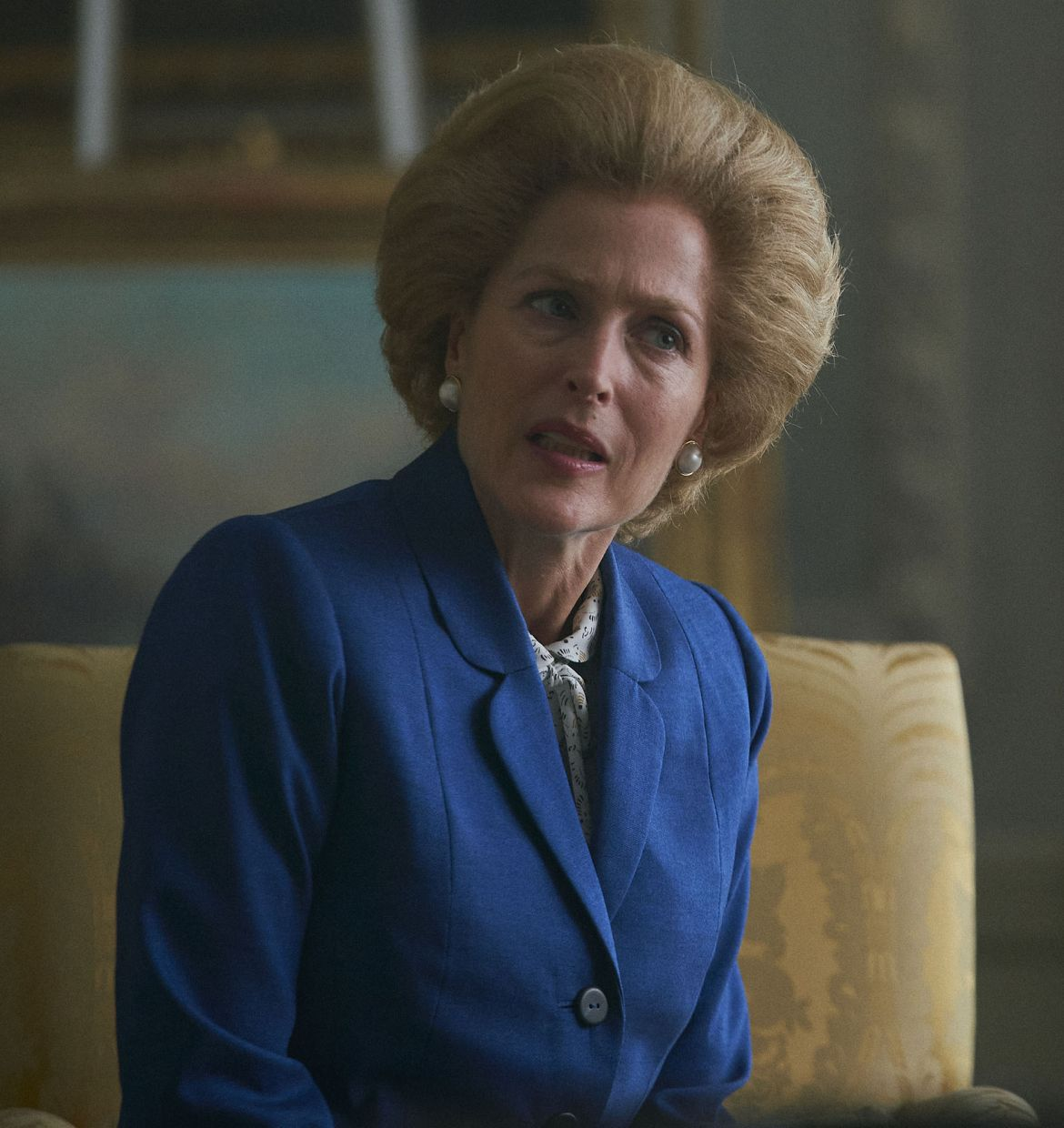 Gillian Anderson in a scene from 'The Crown'. Anderson was nominated for an Emmy Award for outstanding supporting actress in a drama series. Photo: Netflix