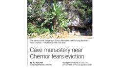 Make cave monastery a heritage site, authorities told