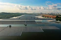 Singapore's first large-scale solar floating farm opens at Tengeh Reservoir