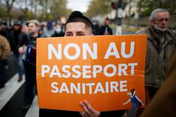 Protests in France against COVID-19 'health pass' rules