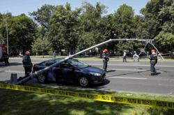 U.S. Black Hawk helicopter makes emergency landing in downtown Bucharest