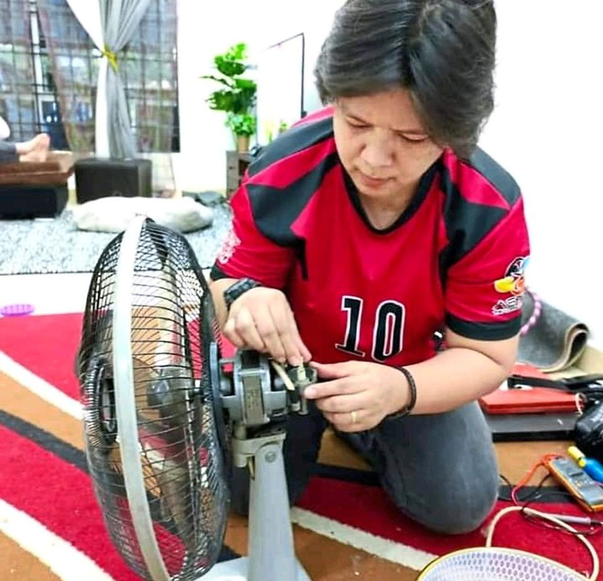 Rahimah enjoys fixing faulty electrical devices and bringing them back to life.