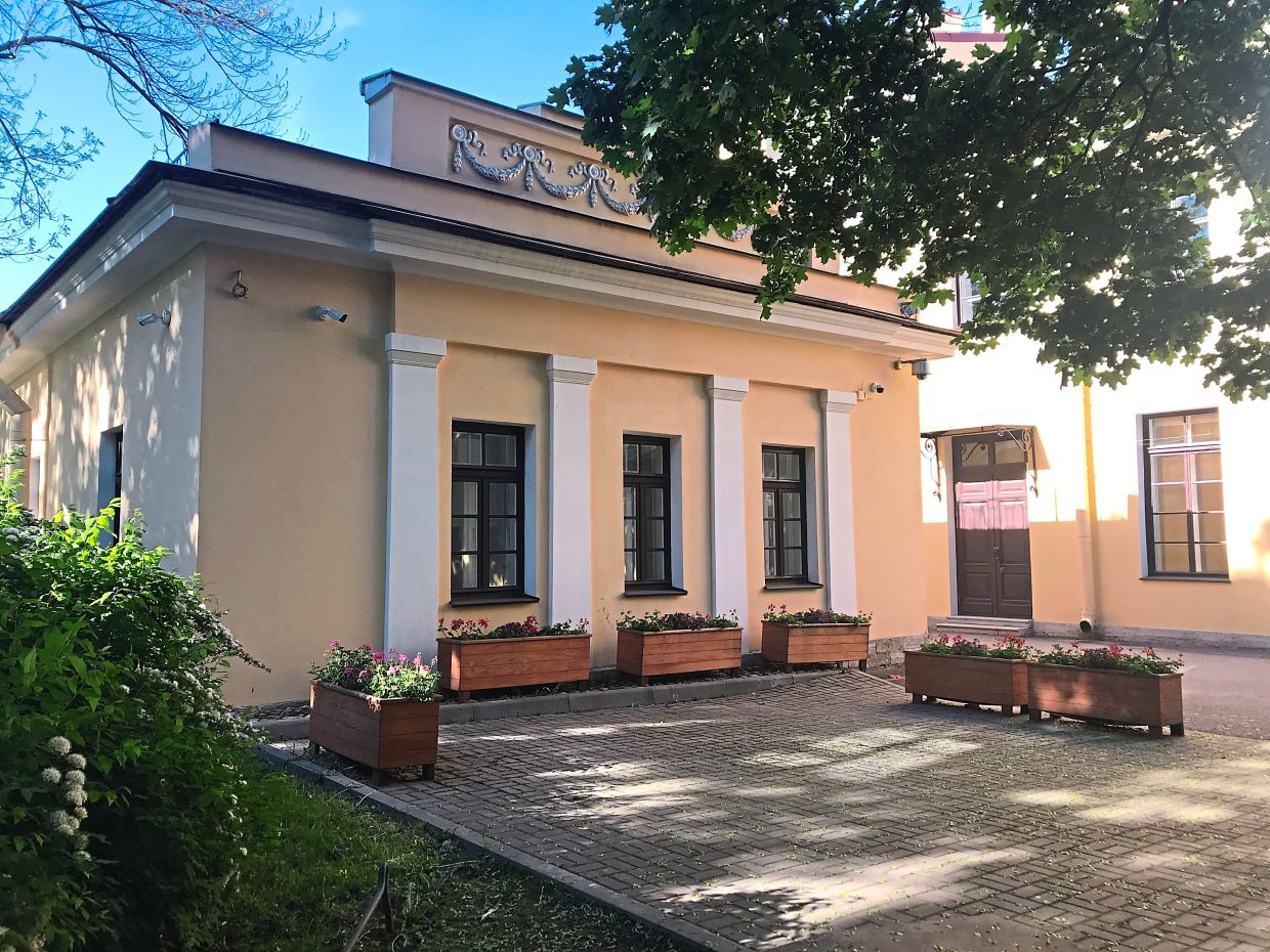 This is the building where Putin used to do judo training in St Petersburg. He is now honorary president of theInternational Judo Federation (IFJ).