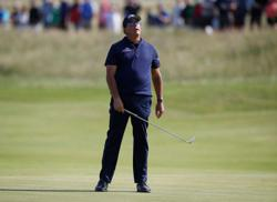 Golf-Mickelson in a jam after 80 at Sandwich