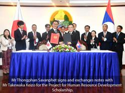 Japan provides Laos with US$3mil for human resource development