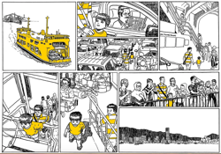 Malaysian cartoonist is ferrying Penangs past to a broader audience