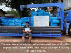 Laos: Vientiane police nets huge drug haul worth millions