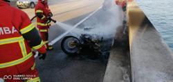 Motorcycle found burnt in Penang Bridge incident
