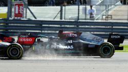 Motor racing-Hamilton penalised for Verstappen's race-ending crash