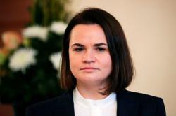 Belarus opposition leader asks U.S. to impose more sanctions