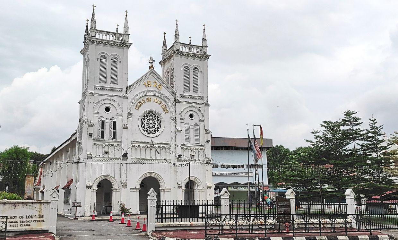 Our Lady of Lourdes Church at Jalan Tengku Kelana in Klang.