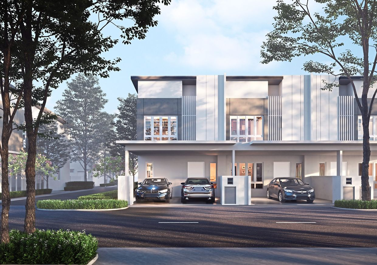 Two-storey freehold landed homes in Bayu Sutera.