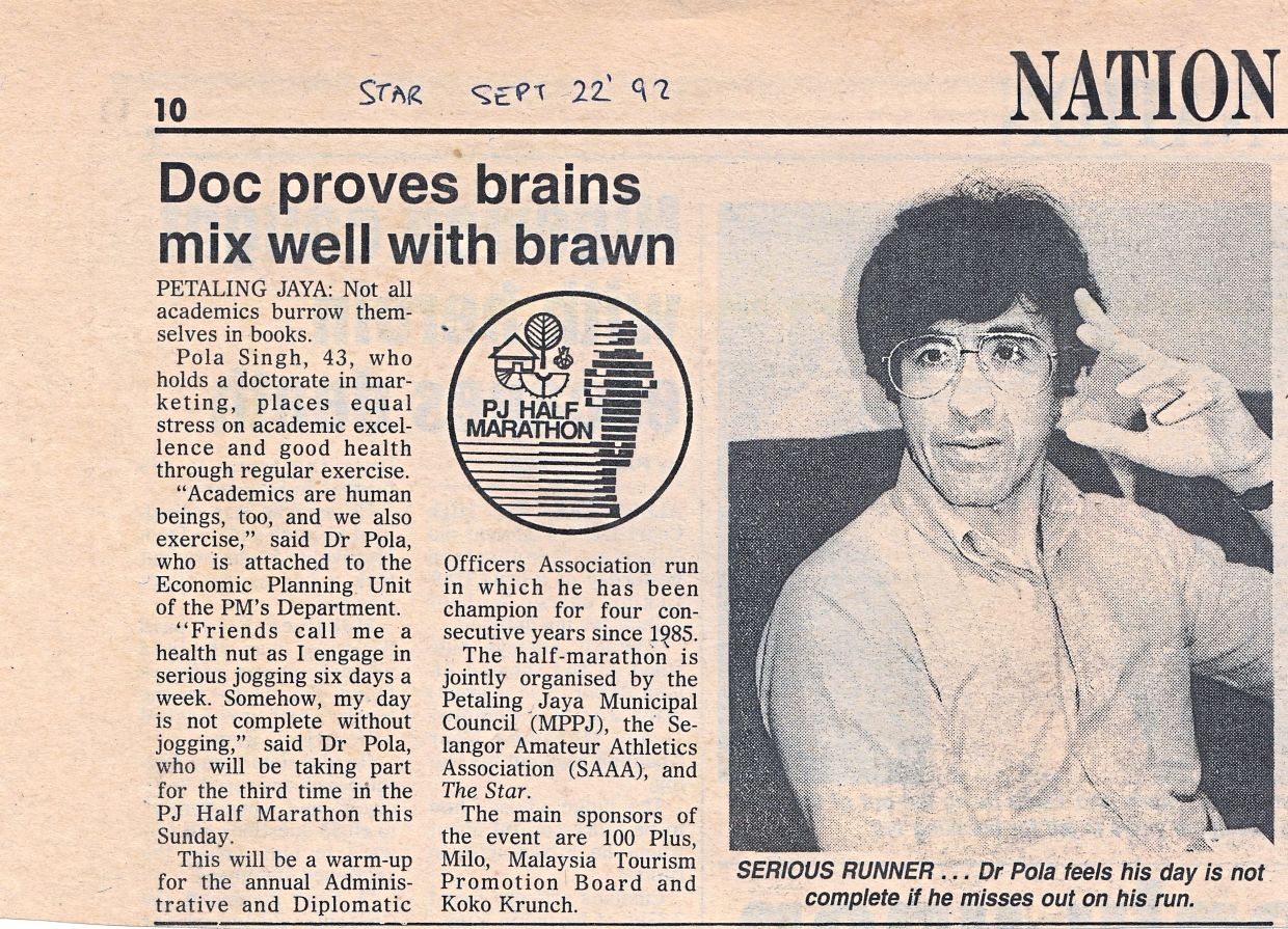 Brains and brawn: An old clipping of a news report .