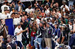 Basketball-'Incredible Giannis!' Greeks celebrate Bucks' NBA victory
