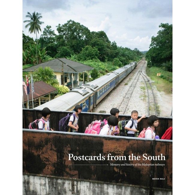 Mahen's 'Postcards From The South' book, which documented the Southern Line in Malaysia. Photo: Handout