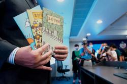 Hong Kong arrests five over kids' books with pro-Beijing wolves
