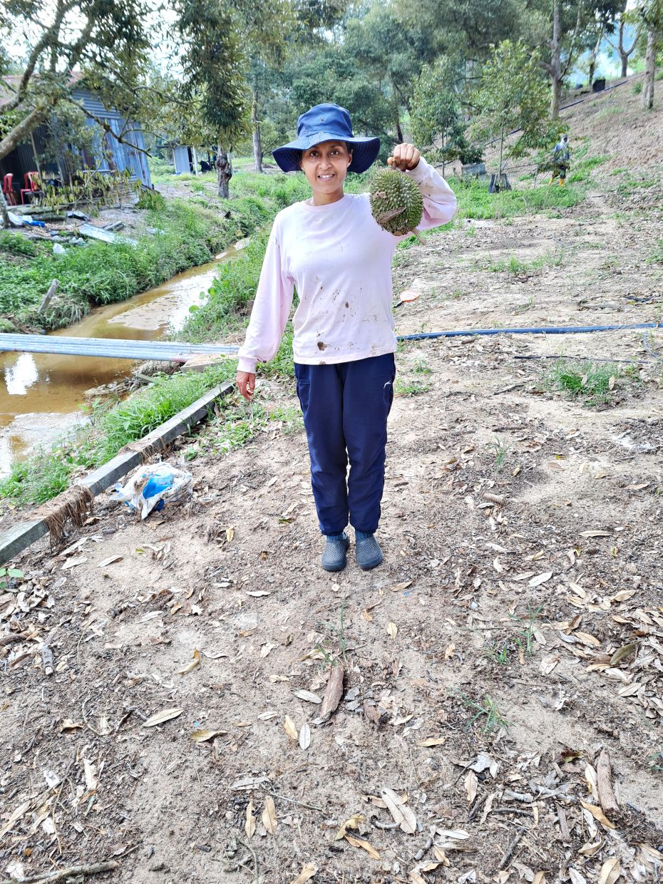 Ngh doesn't just help market the farm produce, she also helps out at the farm. Photo: Christine Ngh
