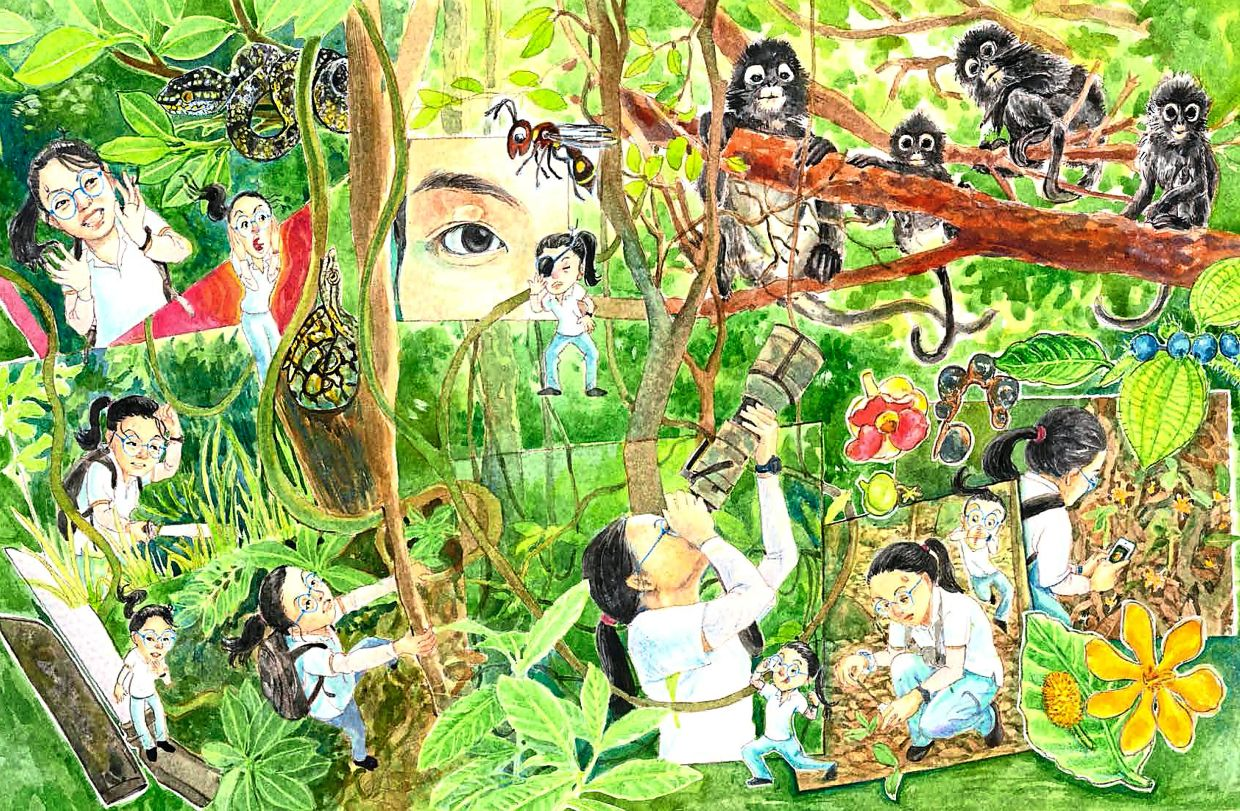 The book, set in Bukit Mertajam and George Town, has 30 pages of illustrations and six pages of photos.