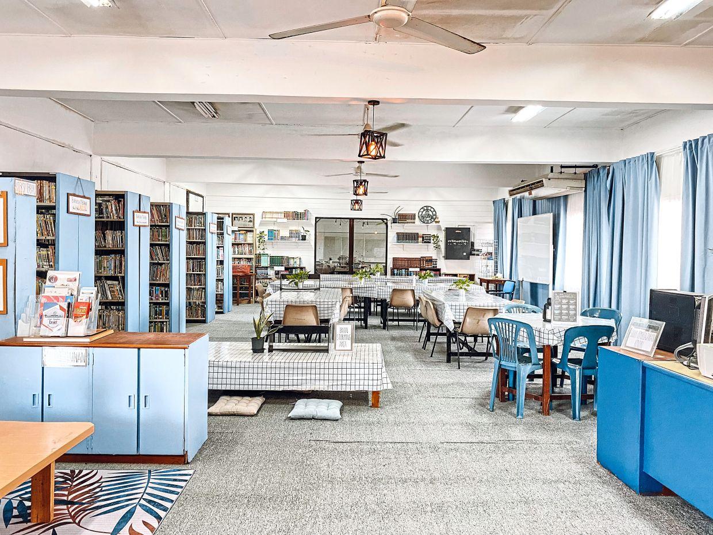Phase 1 of the library transformation at SMK Air Tawar Kota Tinggi features a farmhouse design.