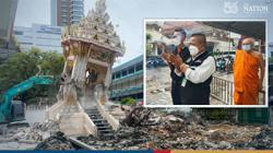Bangkok temple's crematorium collapses from weight of Covid deaths