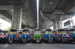 Taxis, tuk-tuks vanish from roads after virus surge